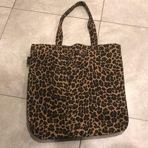 J Crew cheetah print tote bag